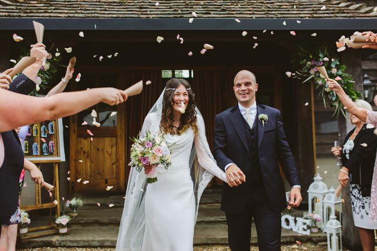Confetti Pretty Festival Barn Countryside Wedding http://www.claretamim.co.uk/