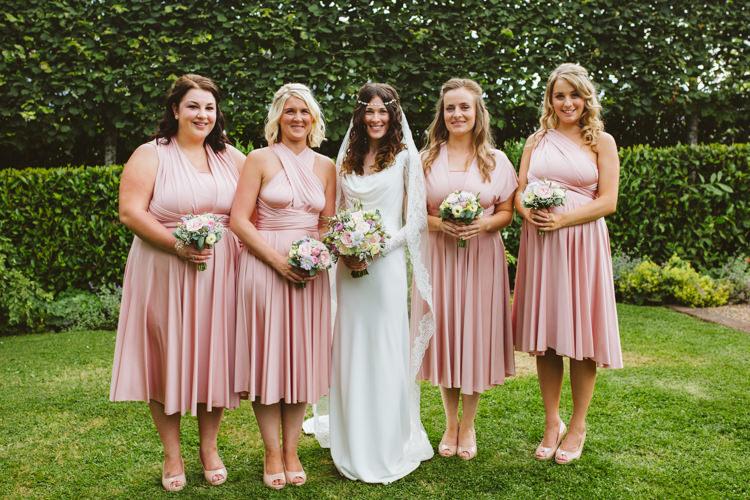 Twobirds Bridesmaids Dresses Pink Multi Way Pretty Festival Barn Countryside Wedding http://www.claretamim.co.uk/