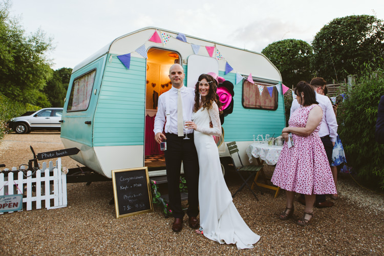 Caravan Photo Booth Pretty Festival Barn Countryside Wedding http://www.claretamim.co.uk/