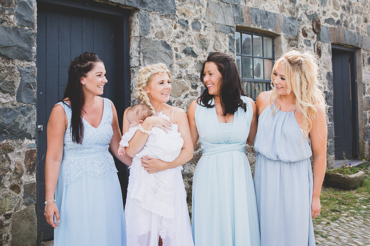 Pale Blue Bridesmaid Dresses Bohemian Natural Eco Wedding www.stephnewtonphotography.com