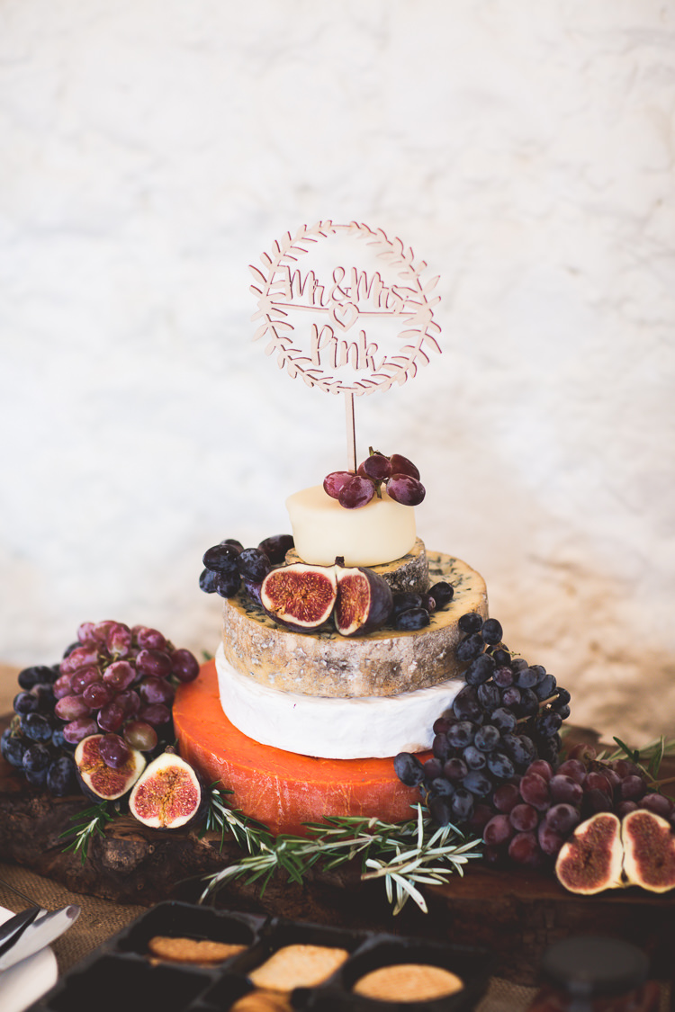 Cheese Tower Cake Stack Bohemian Natural Eco Wedding www.stephnewtonphotography.com
