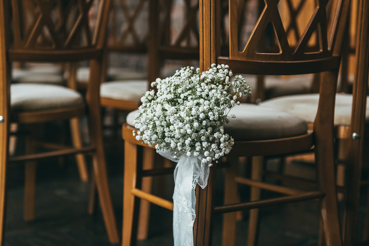 Gyp Gypsophila Baby Breath Bouquet Flowers Pew End Chair Relaxed Boho Barn Wedding http://www.fcphotography.co.uk/