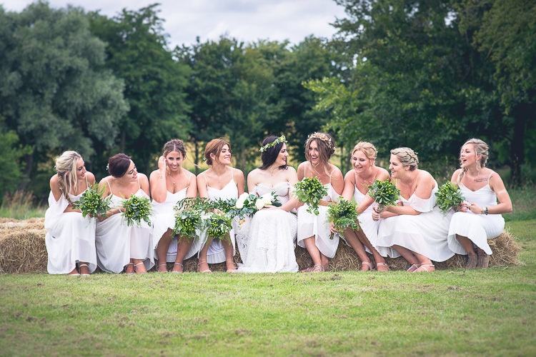 White Bridesmaid Dresses Outdoor Boho Botanical Farm Wedding http://www.lauraophotography.com/