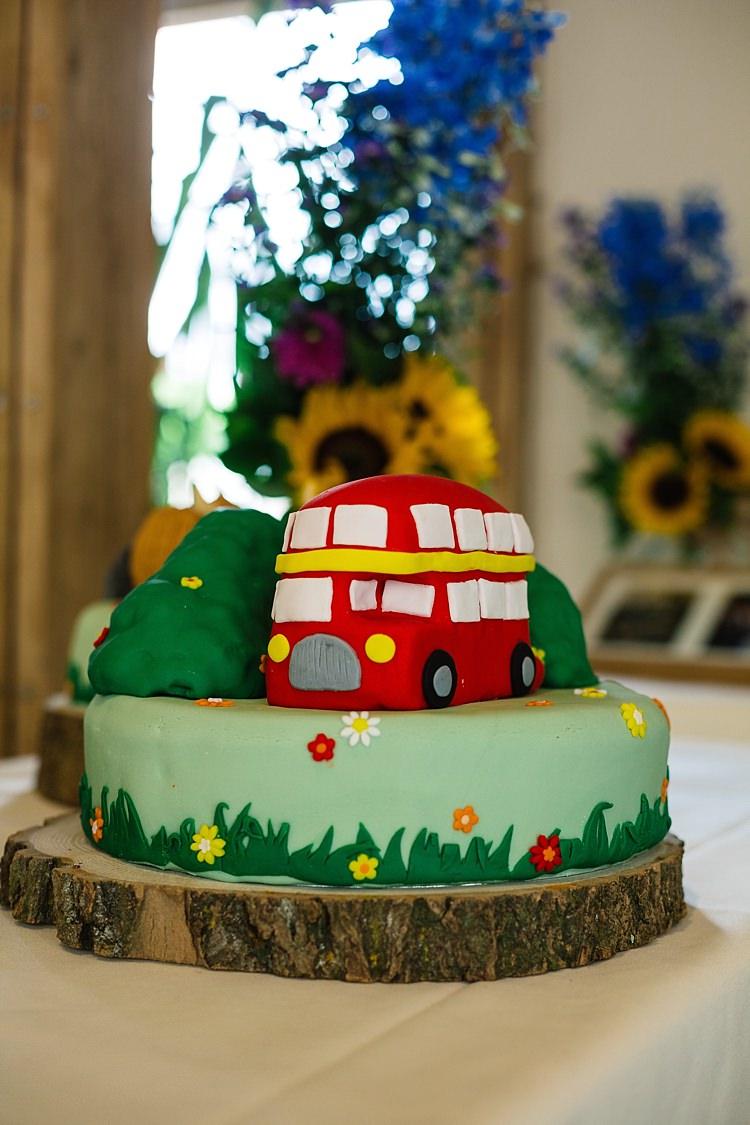 Bus Cake Fun Multicoloured Party Wedding http://www.pauljosephphotography.co.uk/