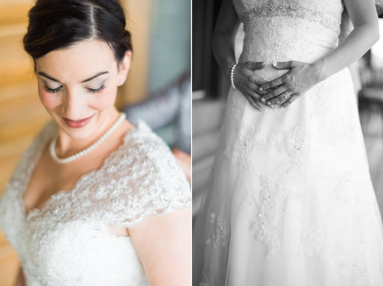 Bride Soft Natural Makeup Lace Cap Sleeve Bridal Gown Pearls Outdoor Spring Vineyard Wedding Tennessee http://www.juicebeatsphotography.com/