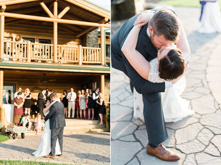 Bride Lace Cap Sleeve Bridal Gown Groom Navy Suit Guests Wooden Venue Guests Outdoor Spring Vineyard Wedding Tennessee http://www.juicebeatsphotography.com/