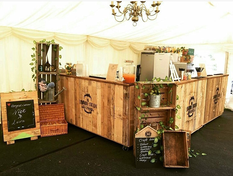 Mobile Wedding Bar Tail Rustic Quirky The Libation Station
