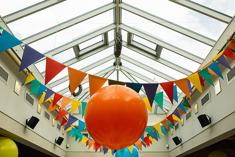 Giant Balloons Bunting Fun Multicoloured Party Wedding http://www.pauljosephphotography.co.uk/