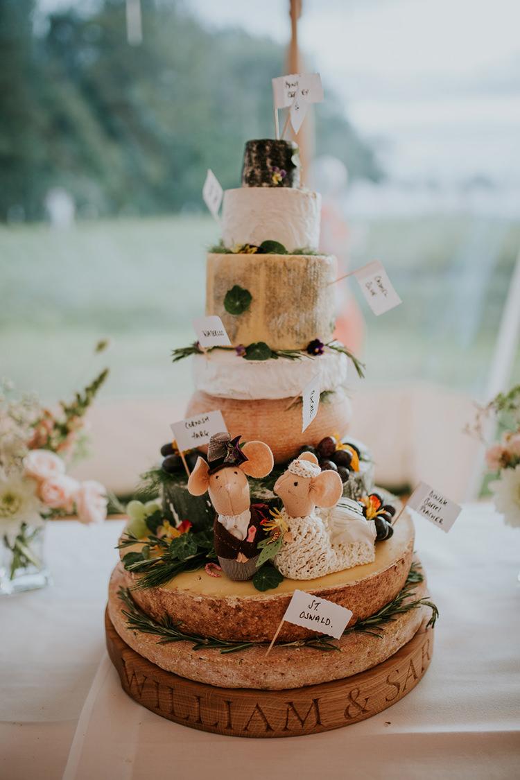 Cheese Tower Stack Cake Beautiful Classic English Countryside Wedding http://jenmarino.com/