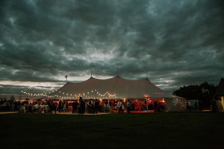 Marquee Festoon Lights Beautiful Classic English Countryside Wedding http://jenmarino.com/