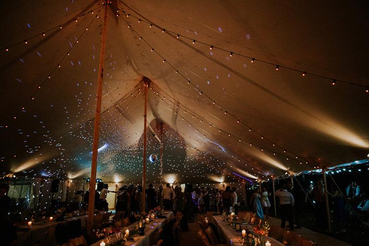 Fairy Lights Festoon Lights Disco Ball Marquee Beautiful Classic English Countryside Wedding http://jenmarino.com/