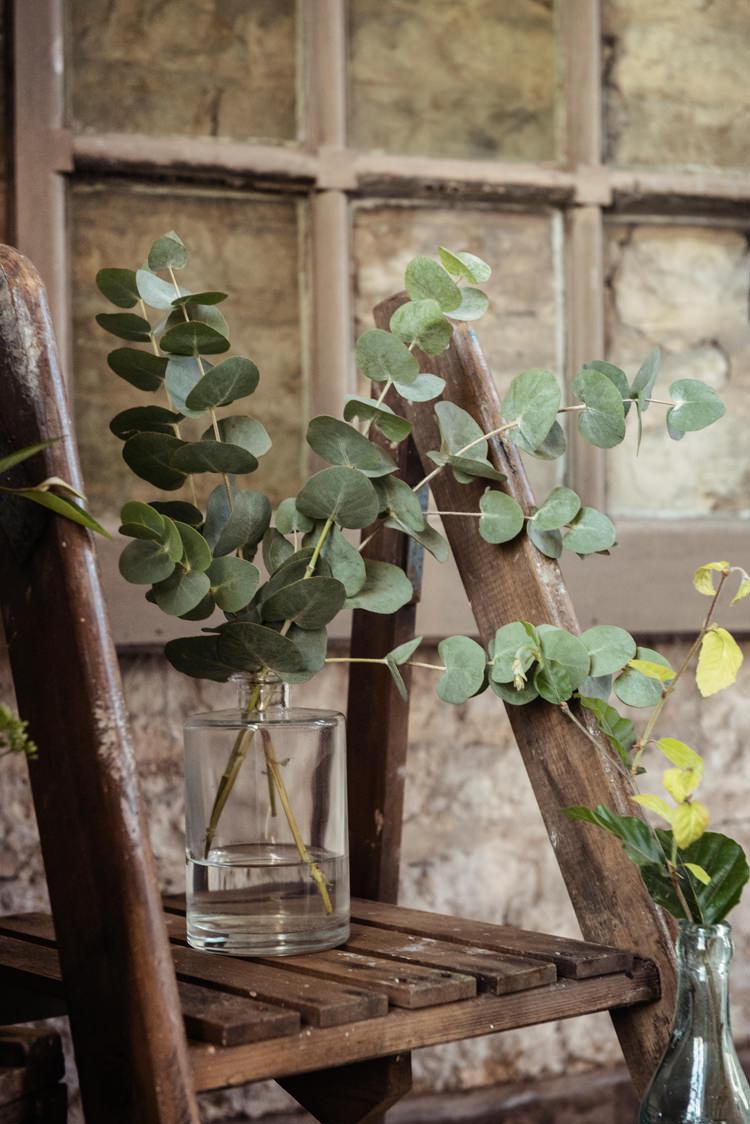 Ladder Decor Greenery Organic Foliage Rustic Wedding Ideas http://www.sarahvivienne.co.uk/