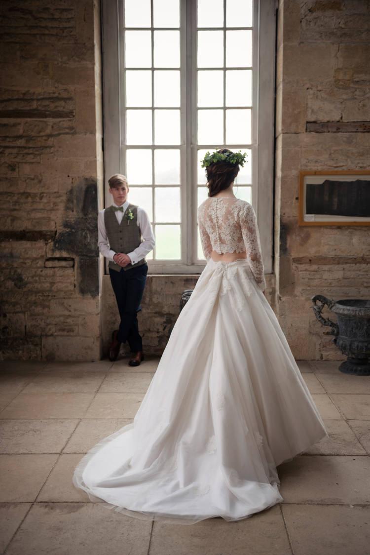 Separates Bride Bridal Dress Gown Skirt Top Organic Foliage Rustic Wedding Ideas http://www.sarahvivienne.co.uk/