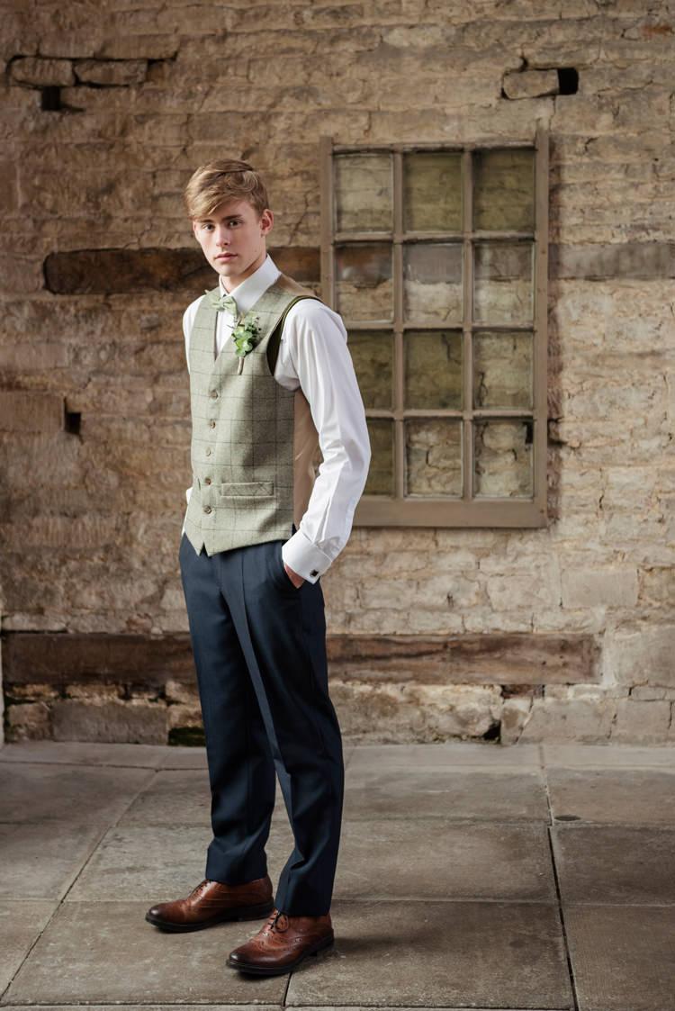 Green Tweed Waistcoat Groom Chinos Organic Foliage Rustic Wedding Ideas http://www.sarahvivienne.co.uk/