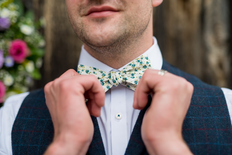 Floral Bow Tie Groom 1950s Summer Fete Wedding http://www.mia-photography.com/