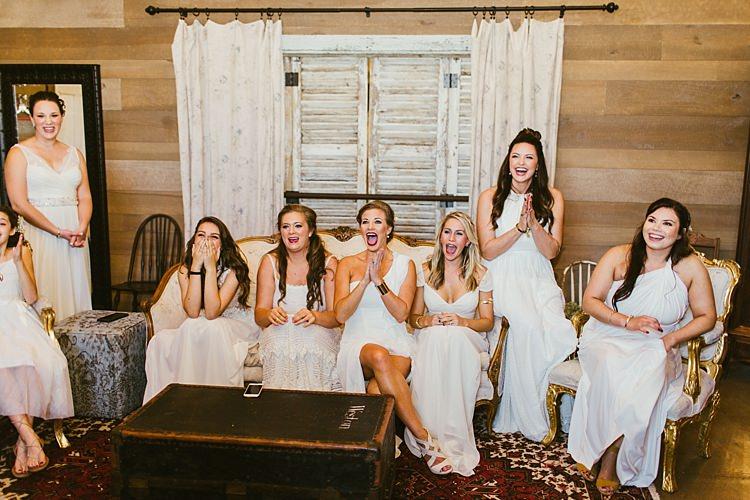 Bridesmaids Ivory Dresses Different Styles Whimsical Boho Outdoor Wedding Alabama http://belightphotography.com/