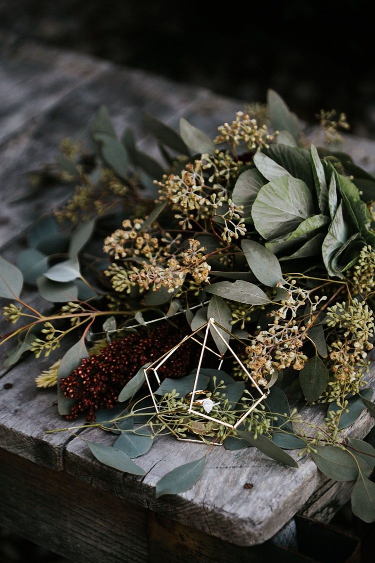 Fresh Wild Florals Eucalyptus Wooden Table Whimsical Boho Outdoor Wedding Alabama http://belightphotography.com/