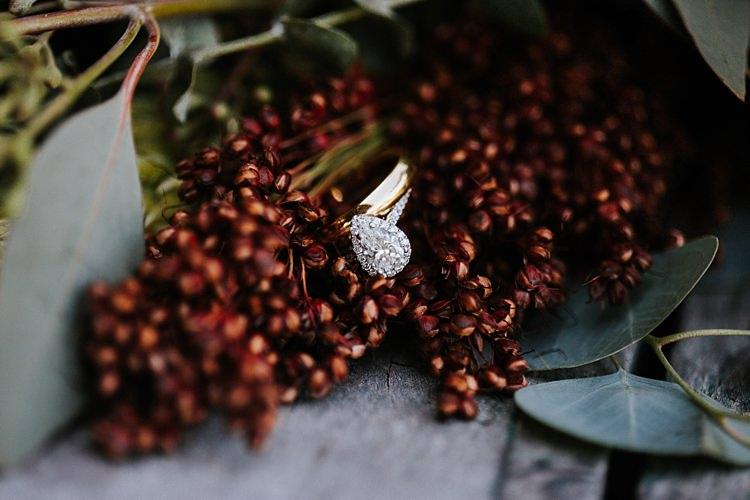 Engagement Wedding Rings Fresh Wild Florals Eucalyptus Whimsical Boho Outdoor Wedding Alabama http://belightphotography.com/