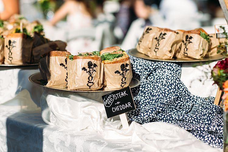 Outdoor Reception Fresh Sandwiches Mini Handwritten Chalkboard Sign Organic Farm Wedding Washington http://www.katiedayphotos.com/