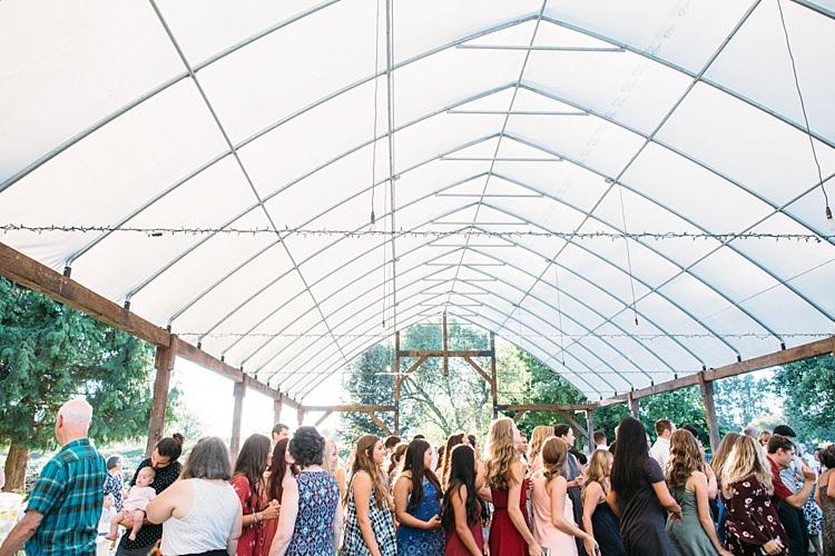 Outdoor Reception Marquee Guests Dancing Organic Farm Wedding Washington http://www.katiedayphotos.com/