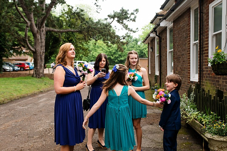 Blue Bridesmaid Dresses Bright Quirky Crafty Wedding http://www.babbphoto.com/