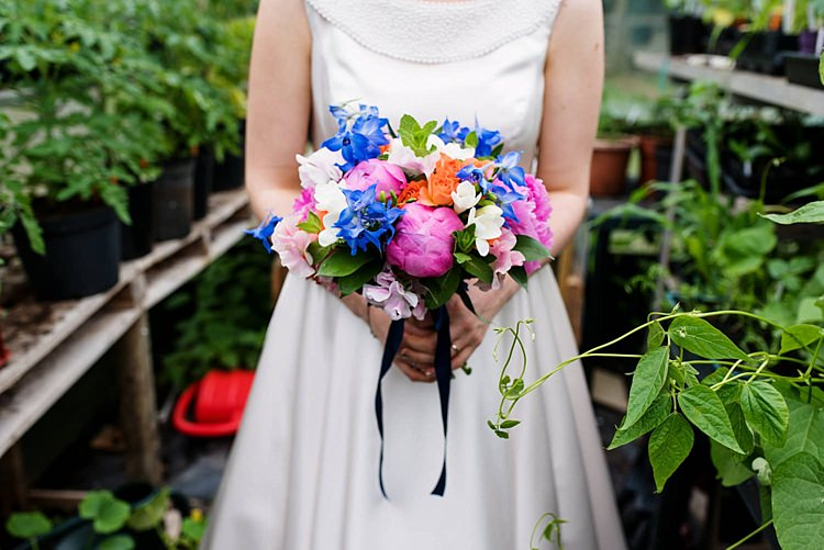 Pink Blue Peony Peonies Bouquet Flowers Bride Bridal Bright Quirky Crafty Wedding http://www.babbphoto.com/