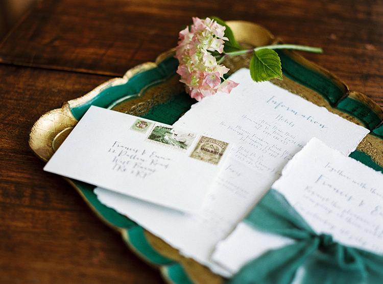 Stationery Envelope Calligraphy Stamps Arts & Crafts Jewel Tone Wedding Ideas http://www.veronalain.com/