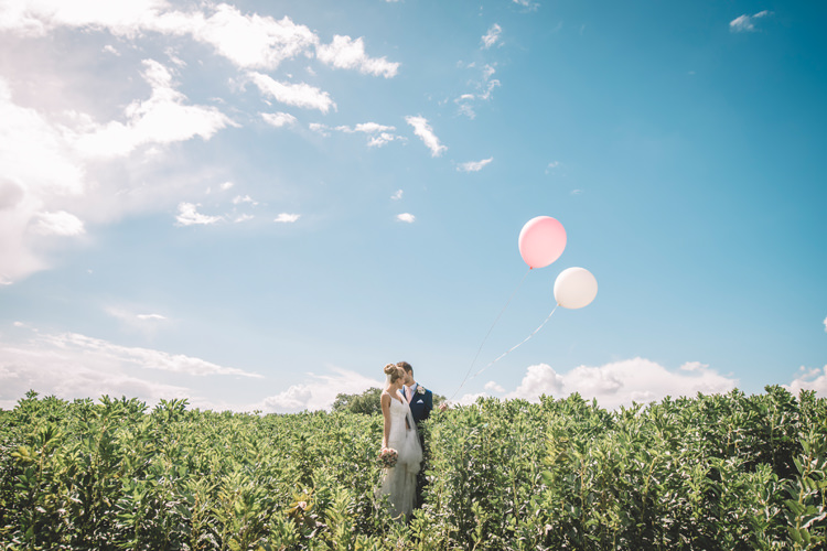 Bride Groom Balloons DIY Summer Rustic Country Wedding http://www.danielakphotography.com/