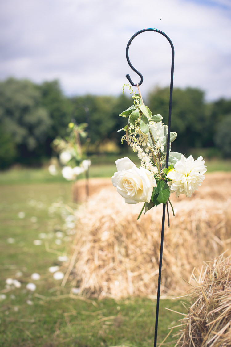 Hanging Hook Flowers Aisle Pew End Outdoor Boho Botanical Farm Wedding http://www.lauraophotography.com/