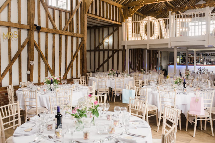Barn LOVE Light Letters Decor Simple Elegant Pretty Barn Wedding http://www.fayecornhillphotography.co.uk/