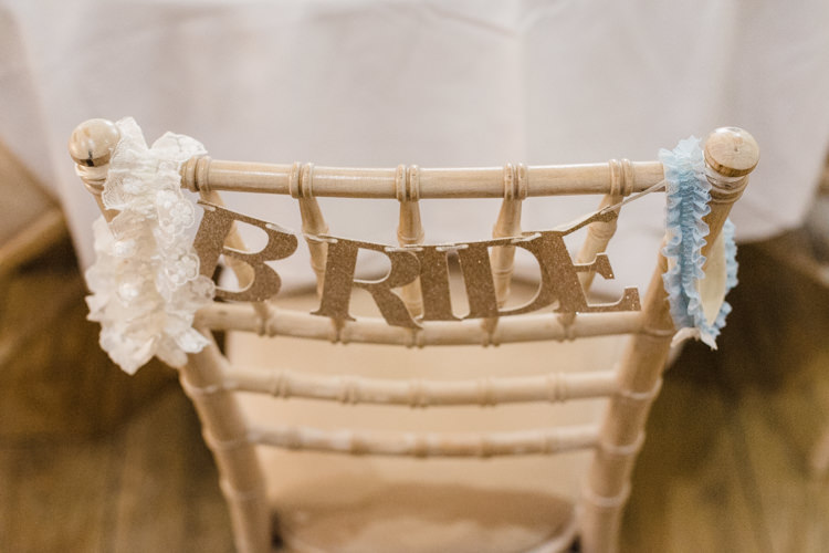 Bride Chair Sign Banner Simple Elegant Pretty Barn Wedding http://www.fayecornhillphotography.co.uk/