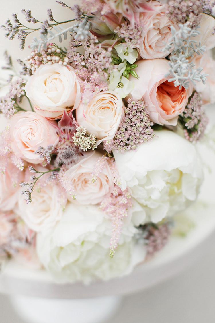 Pink Cream Peach Flowers Cake Rose Peony Decor Soft Pale Fine Art Wedding Ideas http://rachelrosephotography.co.uk/