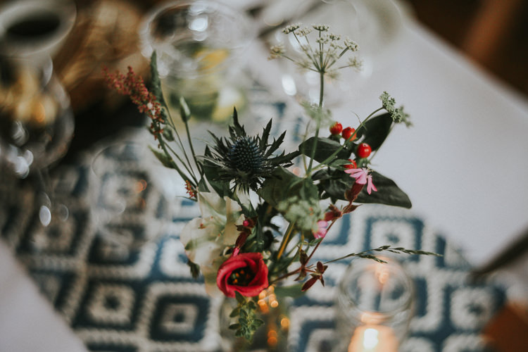 Bold Print Table Cloth Indie Mismatched Colourful Wedding http://foxandowl.uk/