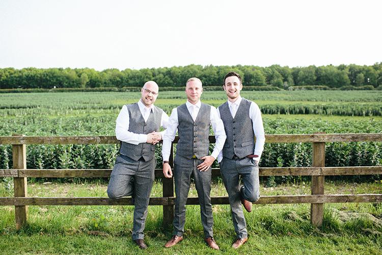 Grey Wool Waistcoat Groom Groomsmen Soft Springtime Countryside Wedding http://www.claudiarosecarter.co.uk/