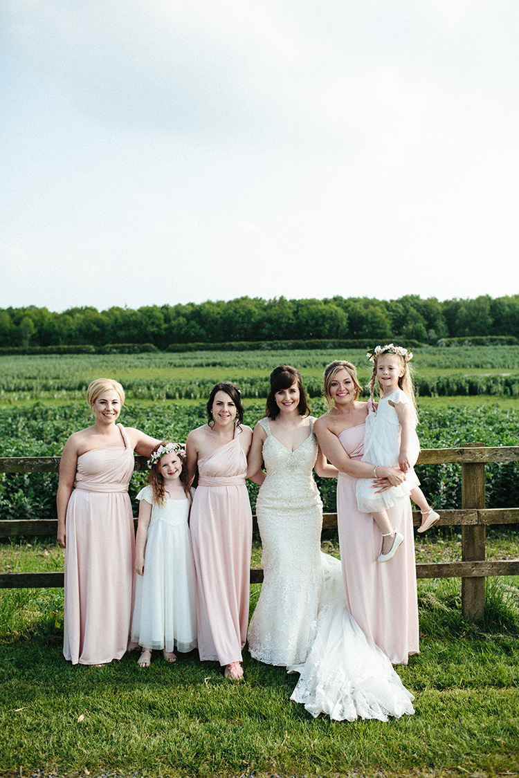 Soft springtime countryside wedding whimsical wonderland weddings long pink bridesmaid dresses multiway soft springtime countryside wedding httpclaudiarosecarter ombrellifo Image collections