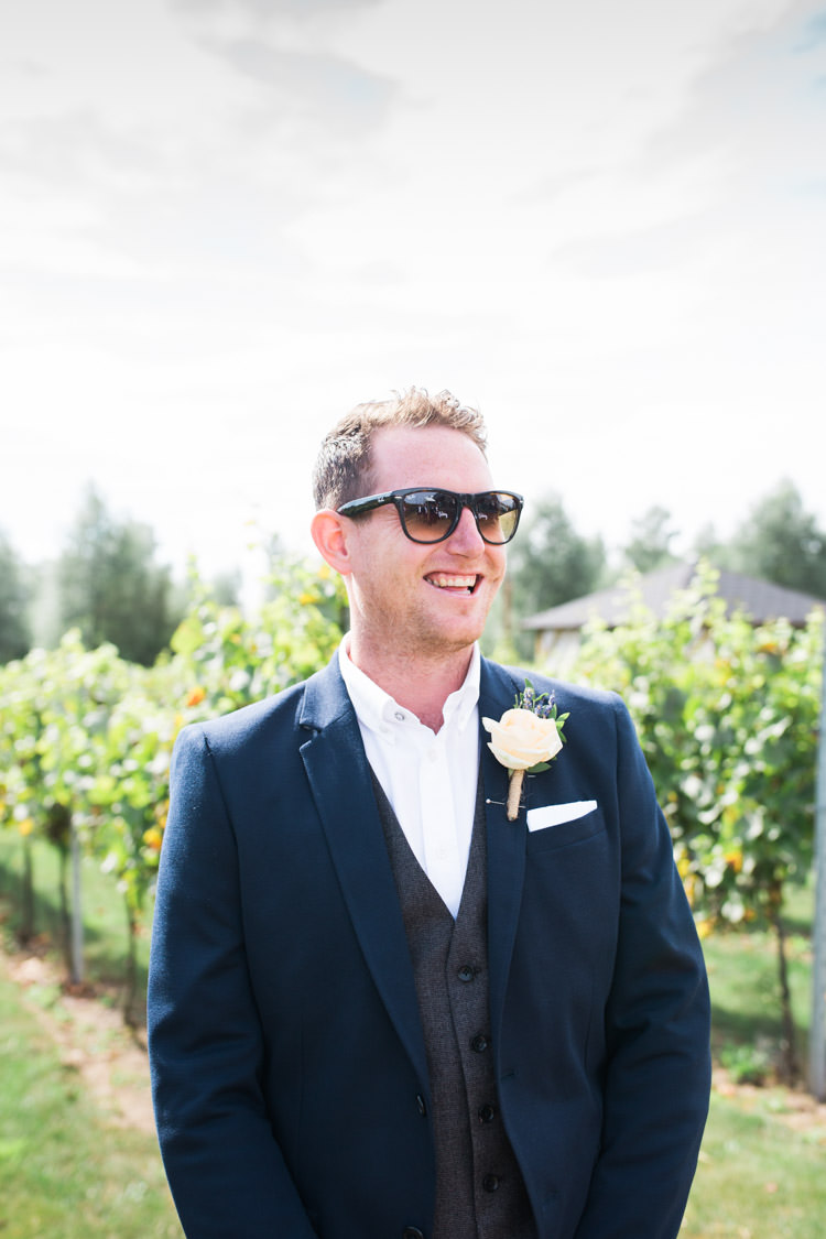 Groom Sunglasses Jacket Waistcoat Bohemian Vineyard Wedding http://www.gemmagiorgio.com/