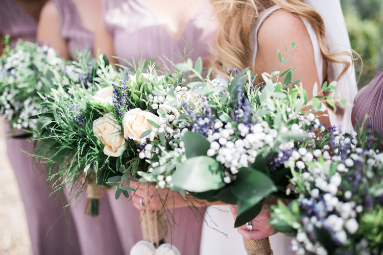 Bridesmaid Bouquets Flowers Greenery Foliage Bohemian Vineyard Wedding http://www.gemmagiorgio.com/
