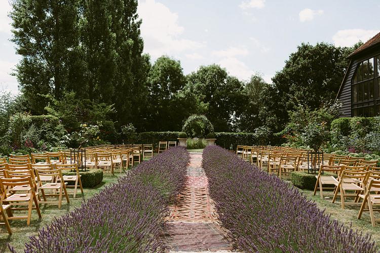 Lavender Ceremony Aisle Bohemian Outdoor Blessing Garden Wedding http://www.lukehayden.co.uk/
