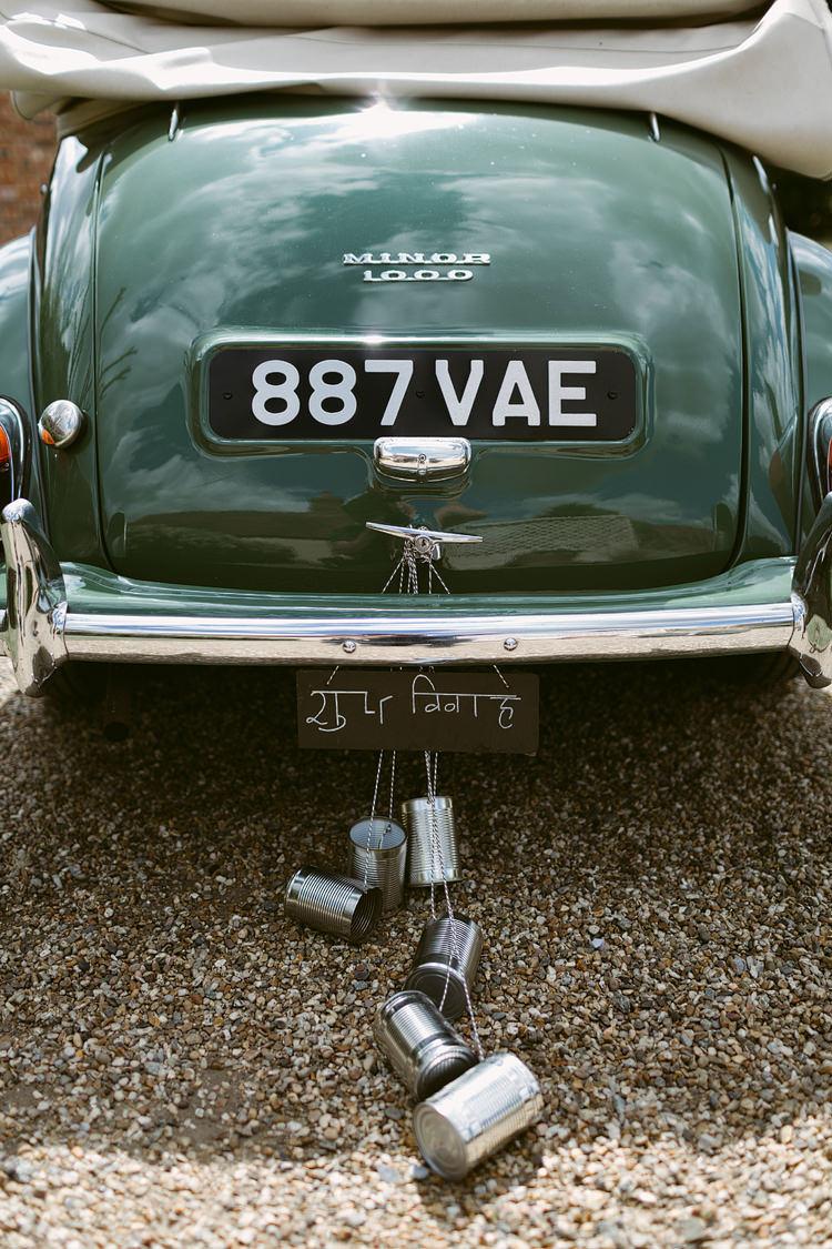 Tin Cans Car Transport Bohemian Outdoor Blessing Garden Wedding http://www.lukehayden.co.uk/