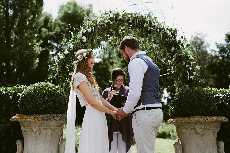 Foliage Greenery Arbour Arch Backdrop Bohemian Outdoor Blessing Garden Wedding http://www.lukehayden.co.uk/