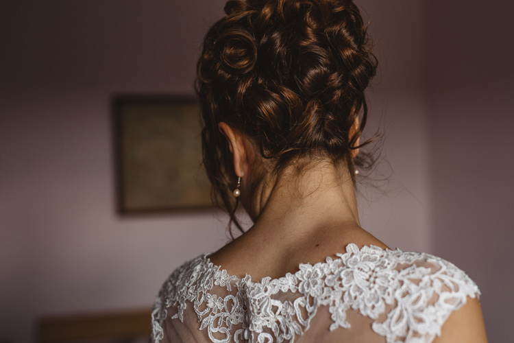 Hair Bride Bridal Up Do Style Colourful Home Made Garden Wedding http://www.maytreephotography.co.uk/
