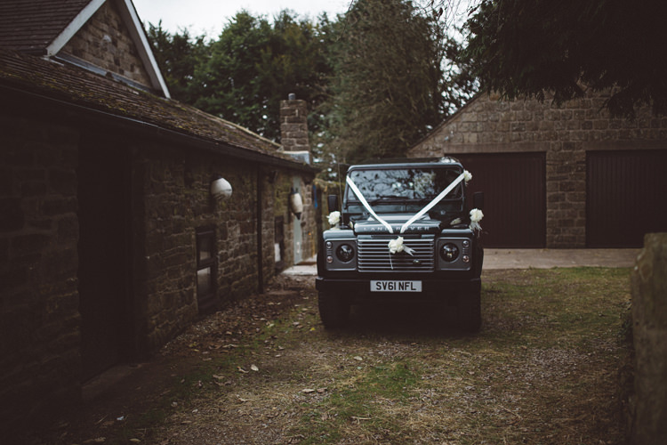 Land Rover Transport Colourful Home Made Garden Wedding http://www.maytreephotography.co.uk/
