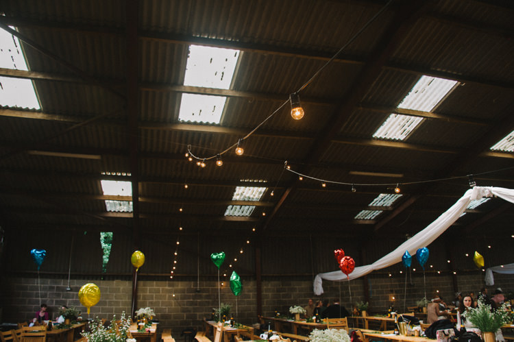 Festoon Lights Barn Artistic Creative Colourful Farm Wedding http://www.mustardyellowphotography.com/