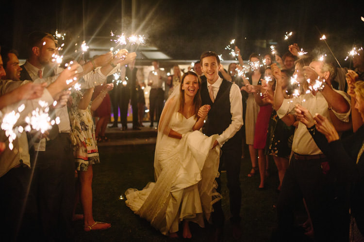 Sparkler Exit Bride Groom Mismatched Berry DIY Wedding http://www.colinianross.com/