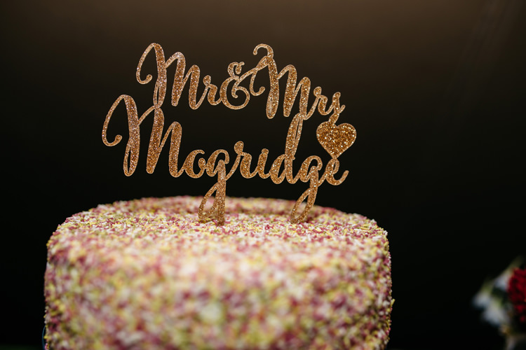 Hundreds Thousands Cake Topper Personalised Colourful Home Made Garden Wedding http://www.maytreephotography.co.uk/