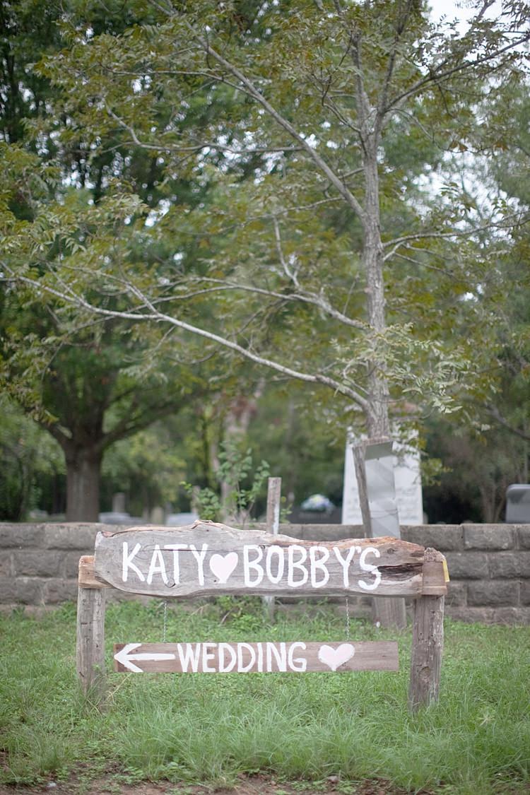 Outdoor Reception Handwritten Wooden Sign Gold & Peach Riverside Garden Wedding http://kellyhornberger.com/