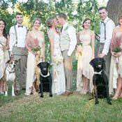 Gold & Peach Riverside Garden Wedding in Texas