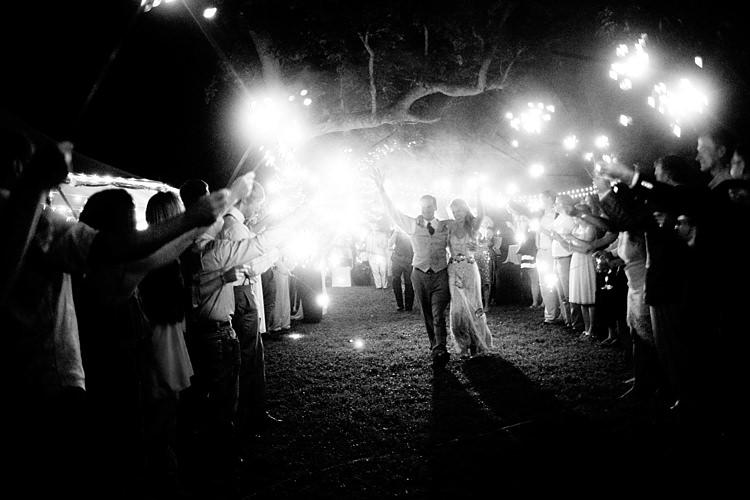 Bride Beaded Jenny Packham Bridal Gown Groom Khaki Pants Vest Brown Tie Guests Sparkler Exit Gold & Peach Riverside Garden Wedding http://kellyhornberger.com/