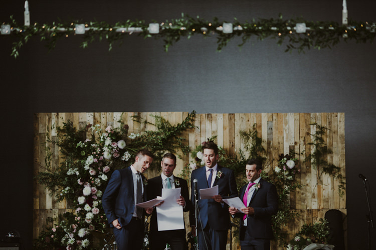Pallet Flowers Sign Backdrop Top Table Romantic Stylish Relaxed Sea Wedding http://www.oxiphotography.co.uk/