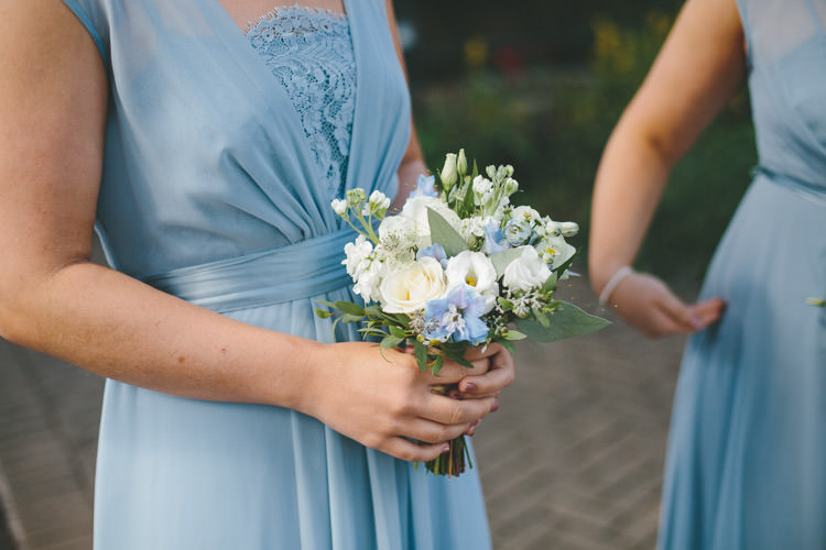 Bridesmaid Bouquet Flowers Home Made Vintage Pale Blue Wedding http://www.elliegracephotography.co.uk/